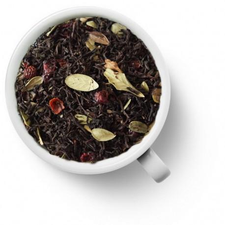 Чай Брусничный черный ароматизированный