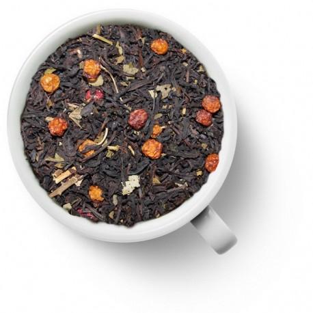 Чай с красной рябиной черный ароматизированный