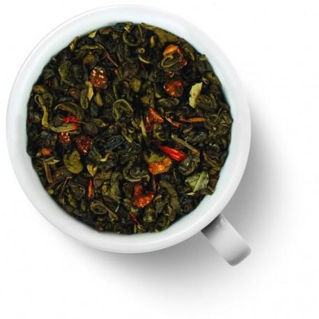 Чай Земляничный десерт (ганпаудер) зелёный ароматизированный