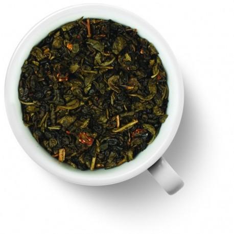 Чай Земляничный десерт зелёный ароматизированный