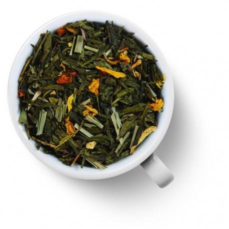 Чай Лимонный крем с женьшенем зелёный ароматизированный