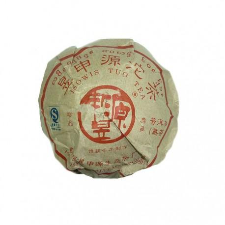 Чай китайский элитный Шу Пуэр Фабрика Юй Шен Юань сбор 2007г. 250 гр (то ча)