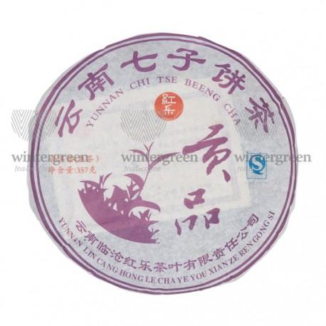 Чай китайский элитный шу пуэр Фабрика Хонг Ли сбор 2008г. 357 гр. (блин)