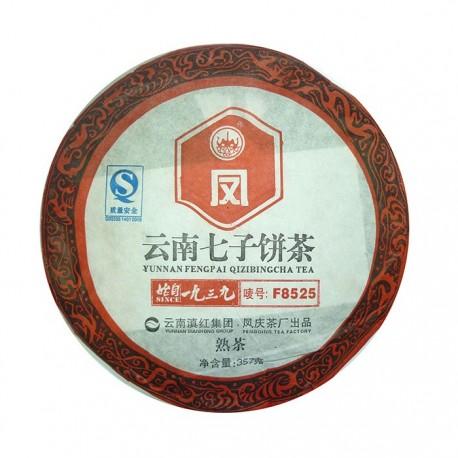 Чай китайский элитный Шу Пуэр Фабрика Фэн Цин сбор 2011 г. 357 гр (блин)