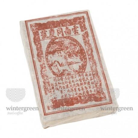 Чай китайский элитный шу пуэр Тун Цин Хао Фабрика Джиу Ван 2005 г. 210-250 гр. (кирпич)