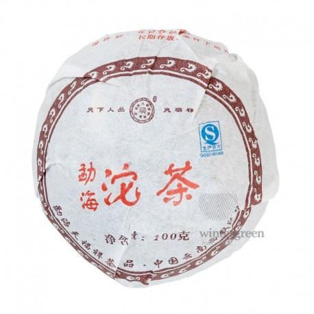 Чай китайский элитный шу пуэр Фабрика Тяньфусян сбор 2006 г. 100 гр. (то ча)