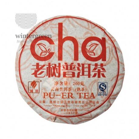 "Чай китайский элитный шу пуэр ""Лао Шу Ча"" Фабрика Куньмин Гуи Компани сбор 2008 г.200гр (блин)"
