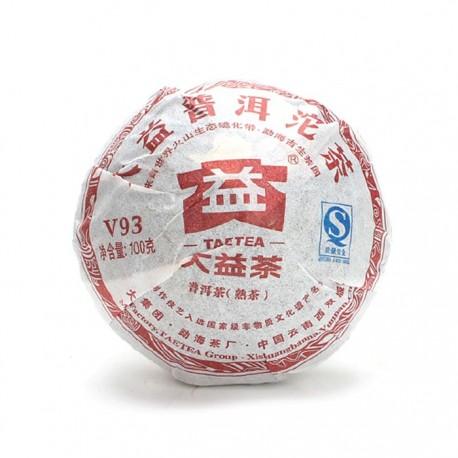 """Чай Шу пуэр """" V93"""" фабрика Менхай Даи сбор 2011г. 101 (уп. 5 шт*100гр) (то ча)"""