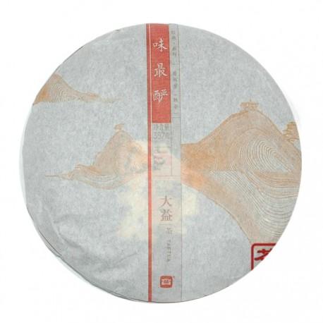 Чай Шу пуэр фабрика Менхай Даи сбор 2013 г 357 гр (блин)