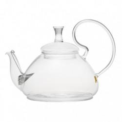 """Чайник стеклянный """"Георгин"""" с пружинкой-фильтром в носике, 670 мл., дно d115 мм."""