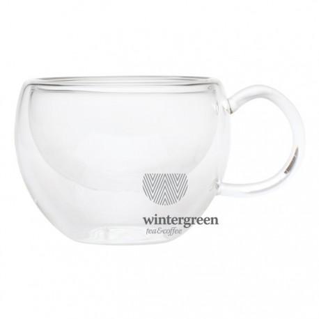 """Необжигающая чашка-термос """"Лилия"""" из жаропрочного стекла, 260 мл."""