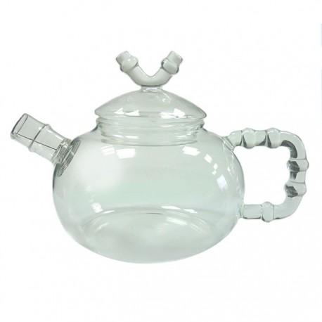 """Заварочный чайник из жаропрочного стекла """"Бамбук"""" с пружинкой-фильтром в носике, 600 мл., дно d90 мм."""