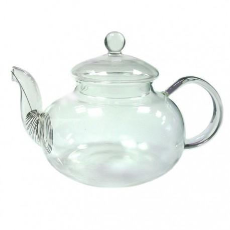 """Заварочный чайник из жаропрочного стекла """"Юнона"""" с пружинкой-фильтром в носике, 600 мл., дно d90 мм."""