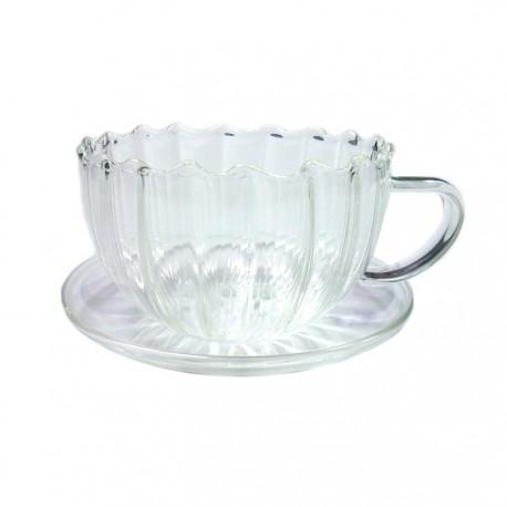 """Чайная пара """"Колеус"""" из жаропрочного стекла. Объем 150 мл."""