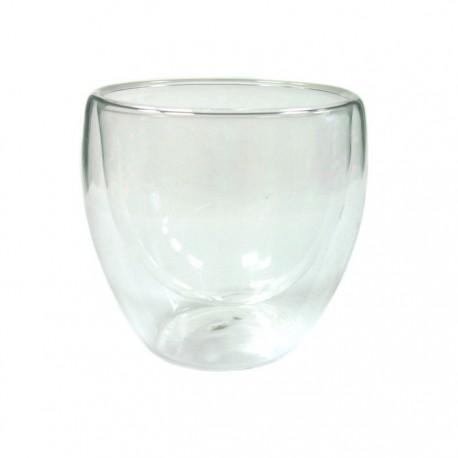 """Необжигающая чашка-термос """"Ландыш""""из жаропрочного стекла. Объем 140 мл."""