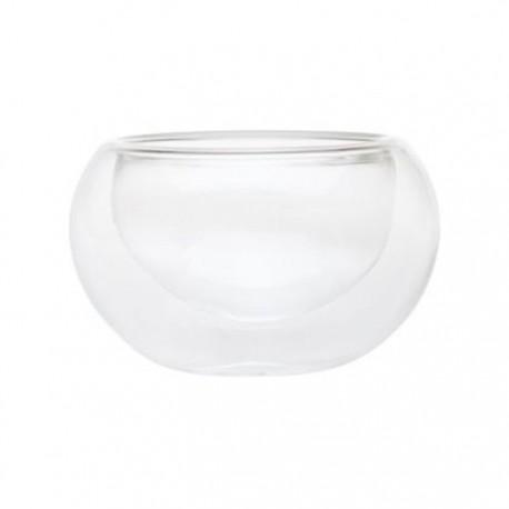 """Необжигающая чашка-термос """"Белая лилия"""" из жаропрочного стекла.Объем 80 мл. В упаковке 6 штук."""