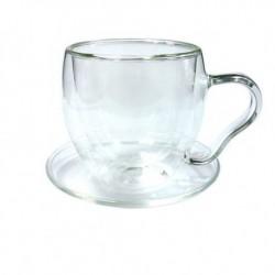 """Чайная пара """"Канны"""" из жаропрочного стекла. Объем 200мл."""