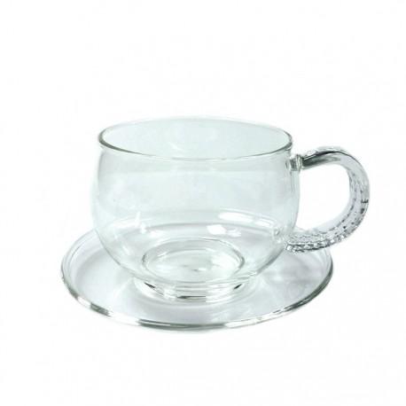 """Чайная пара """"Циния"""" из жаропрочного стекла. Объем 150 мл."""
