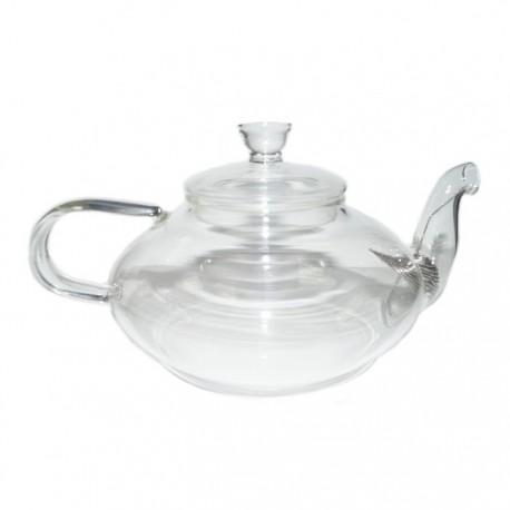 """Заварочный чайник из жаропрочного стекла """"Фрезия"""" с пружинкой-фильтром в носике, 600 мл., дно d75 мм"""