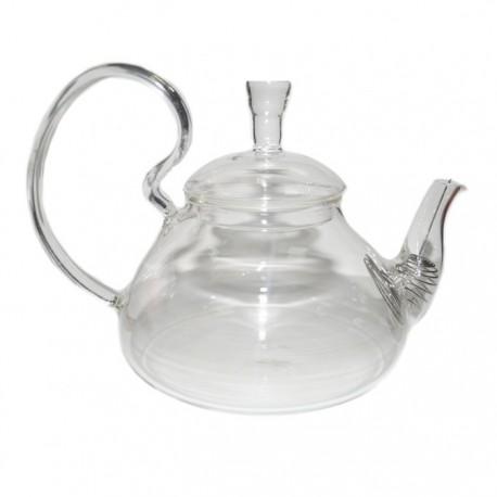 """Заварочный чайник из жаропрочного стекла """"Бегония"""" с пружинкой-фильтром в носике, 600 мл., дно d90 мм"""