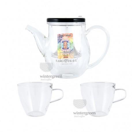 Подарочный набор Гунфу (чайник объем 500 мл + 2 чашки по 150мл)