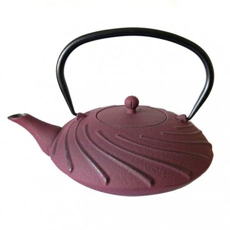 "Чугунный чайник ""Лазурное облако"", объем 1100 мл."