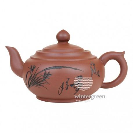 """Глиняный чайник """"Птицы среди цветов"""", объем 350 мл."""