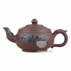 """Глиняный чайник """"Бронзовая Колесница"""",объем 350 мл."""