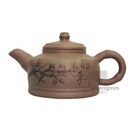 "Большой глиняный чайник ""Китайская вишня"" 1100 мл."