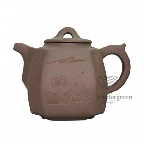 """Большой глиняный чайник """"Хуаншань"""",объем 1300 мл."""