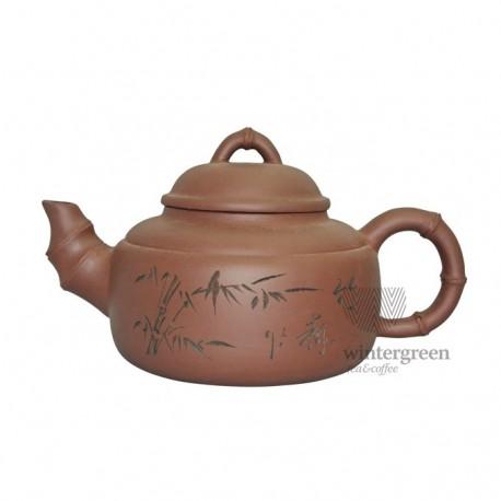 "Большой глиняный чайник ""Семь травинок"",объем 1300 мл."