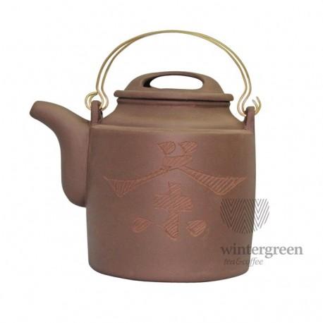 """Большой глиняный чайник """"Путь чая"""",объем 800 мл."""