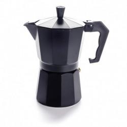 Гейзерная кофеварка на 6 чашек, черная, индукционная