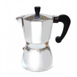 Гейзерная кофеварка на 9 чашек, алюминиевая