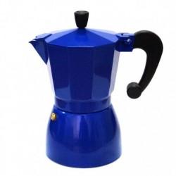 Гейзерная кофеварка на 6 чашек, цвет синий