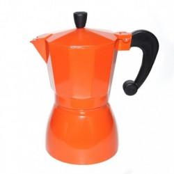 Гейзерная кофеварка на 6 чашек, цвет оранжевый