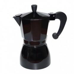 Гейзерная кофеварка на 6 чашек, цвет черный