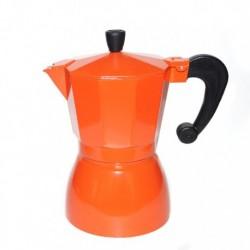 Гейзерная кофеварка на 3 чашки, цвет оранжевый