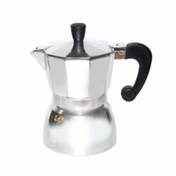 Гейзерная кофеварка на 3 чашки, цвет алюминиевая