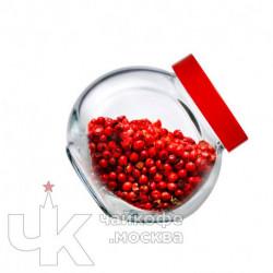 Банка 200мл с крышкой «Бэлла»  стекло,пластик  D-7.5,H-8см  прозр.,красный